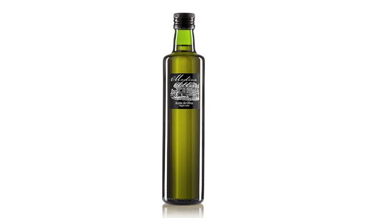 vineyeard-producto-aceite-de-oliva-medina-albors-500-ml-parte-delantera-elaborados-españa-burgos-productos-gourmet