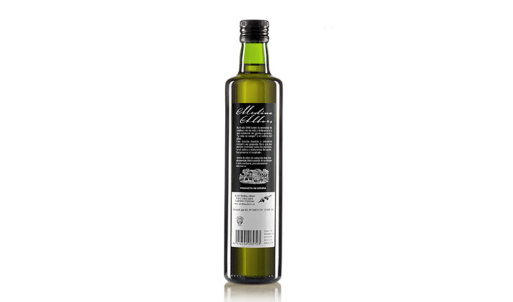 vineyeard-producto-aceite-de-oliva-medina-albors-500-ml-parte-trasera-elaborados-españa-burgos-productos-gourmet